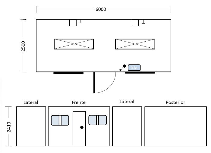 Medidas Baño Adaptado:ARRICAM SA :: Containers Detalle Camarín // Arricamsa, Venta y